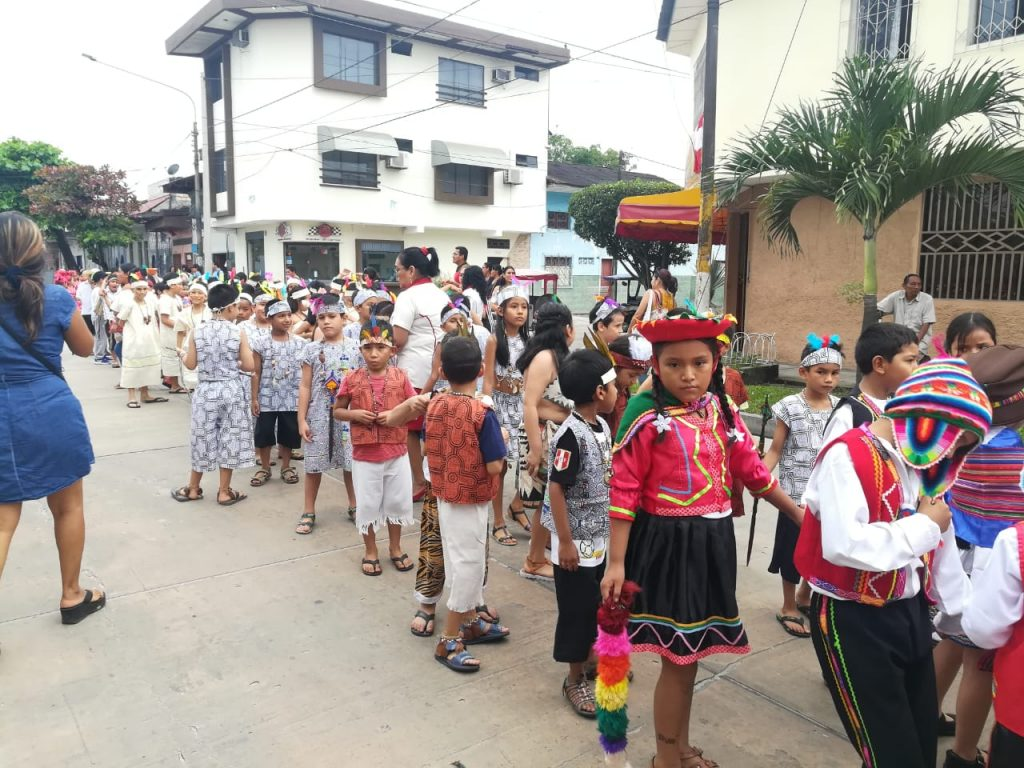 Desfile institucional del 19 de Julio