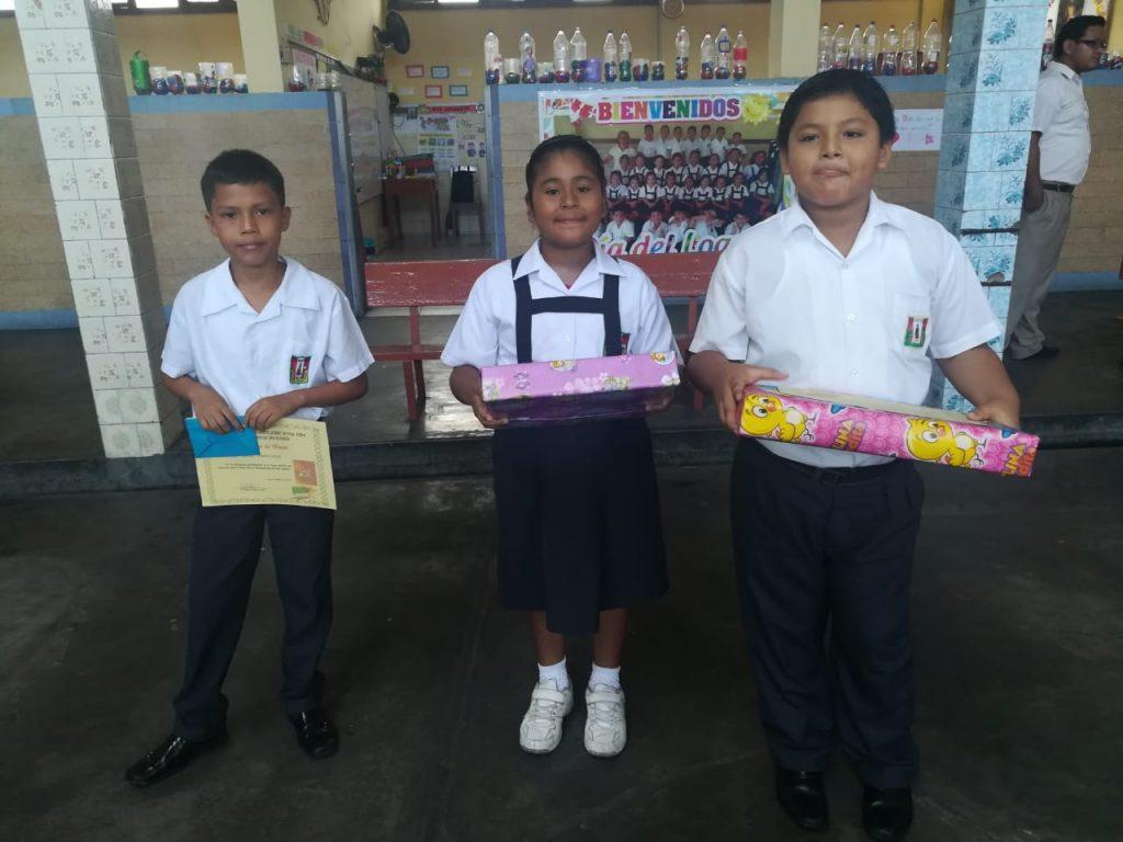 Niños que participaron en las tres categorías, A, B y C, primaria, en el concurso de Vida y obras de San Agustín 2019.